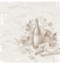 wine and food vector image vector image