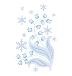 winter flowers vector image vector image