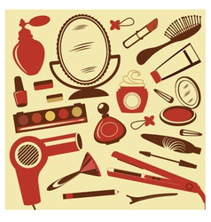 Beauty collection vector image vector image