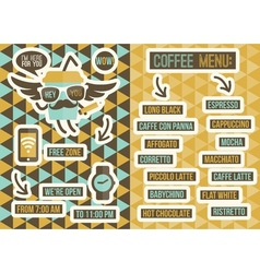 Cafe menu seamless backgrounds and design elements vector
