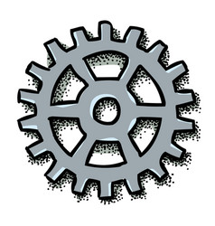 cartoon image of gear icon flat vector image vector image
