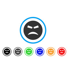 furious smiley icon vector image vector image