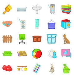 soft towel icons set cartoon style vector image vector image