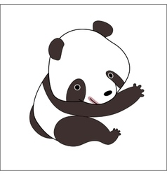 Cartoon panda bear vector image vector image