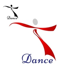 Dancing woman abstract icon or symbol vector image