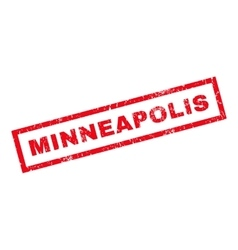 Minneapolis Rubber Stamp vector image vector image