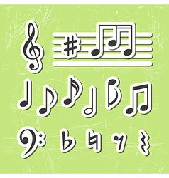 Music notes icons vector image