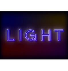 Neon Light Light neon sign vector image
