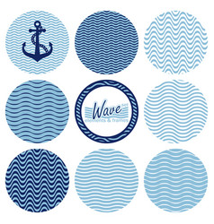 set of wave backgrounds vector image vector image