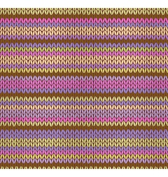 Style Seamless Color Beautiful Knitted Pattern vector image vector image