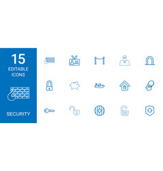 15 security icons vector