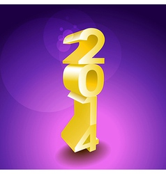 2014 sign vector image