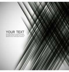 Abstract black lines on a white background vector