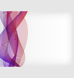 abstract waved line background vector image