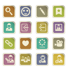 Account icon set vector