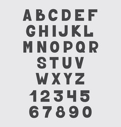 alphabet design set numbers and letters vector image