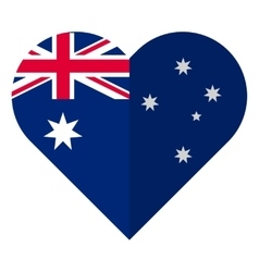 Australia flat heart flag vector
