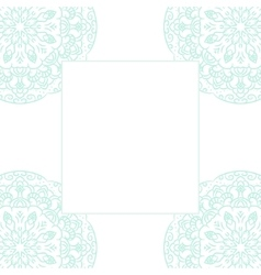 Baby blue mandala card template background vector