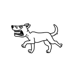 barking dog sketch hand drawn with vector image