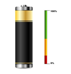 battery with charge level vector image vector image