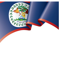 Belize flag on a white vector