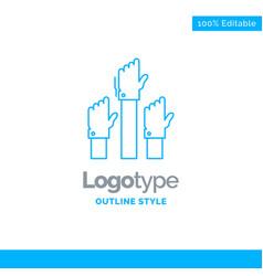 Blue logo design for aspiration business desire vector