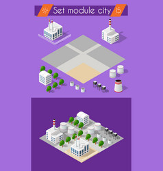 Building 3d industry vector