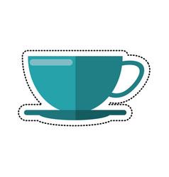 cartoon cup of coffee beverage image vector image