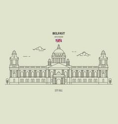 City hall in belfast vector