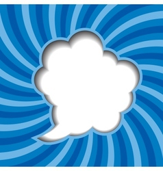 Clouds background with sun rays vector image