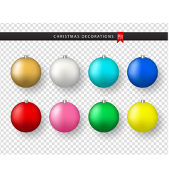 collection of realistic colorful christmas balls vector image
