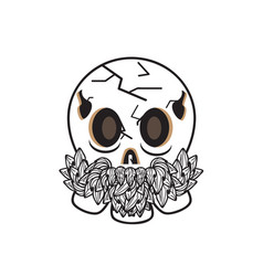 cool-old-skull vector image