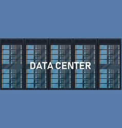 Creative of server rack room vector