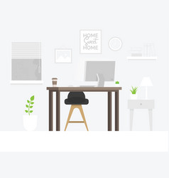 design of modern home office designer workplace vector image