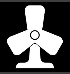Fan it is the white color icon vector