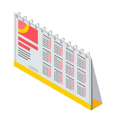 financial calendar icon isometric style vector image