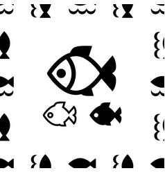 fish icon or logo vector image