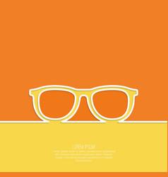Geek glasses icon vector
