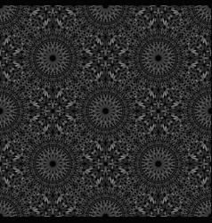 Geometrical oriental bohemian floral pattern vector