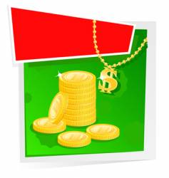 Gold money and banner vector