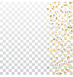 gold stars falling confetti frame isolated vector image