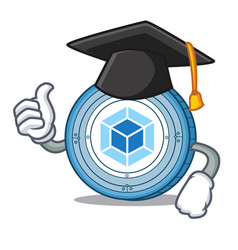 graduation webpack coin character cartoon vector image