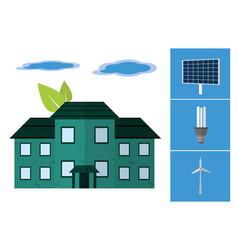 Green energy in house vector