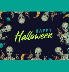 Halloween vintage colorful template vector