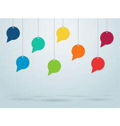 Hanging speech bubbles design vector