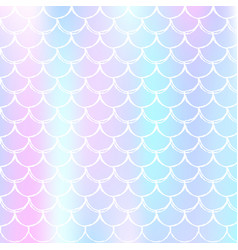 Holographic mermaid background with gradient vector
