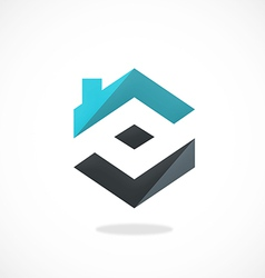 home realty construction logo vector image