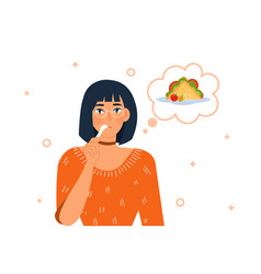 Hungry person concept vector