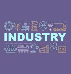 Industry word concepts banner industrial vector