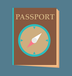 International passport template with sample Vector Image